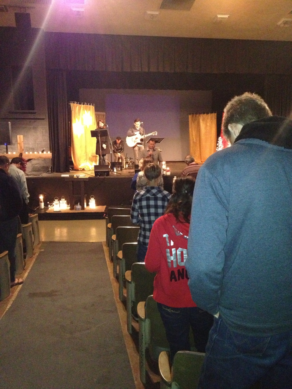 Our church praying for Newtown this morning.