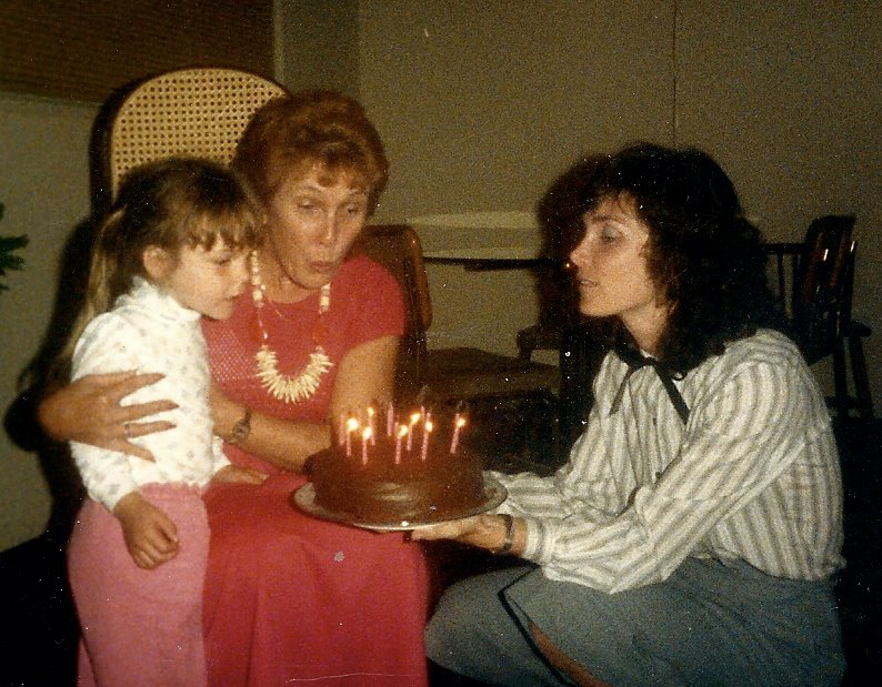 My mom, her mom, and me... All just doing the best we can.