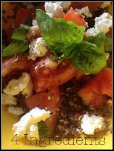 Quinoa, Tomato, Goat Cheese, Basil