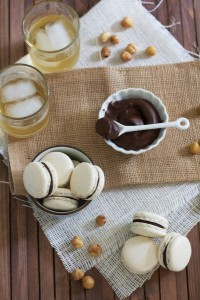 Hazelnut Macaroons with Chocolate Frangelico Ganache- Yes, please!