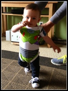 My Mom got Luca this Buzz Lightyear onesie and he definitely got a lot of attention in it!