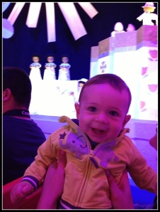 Luca's favorite ride: It's A Small World. I almost wanted to stay on the boat just to see his reaction again- ALMOST.
