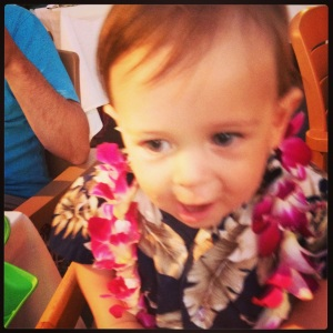 Luca at His First Luau!
