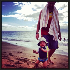 Luca LOVED the beach!