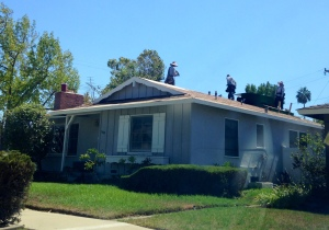 Bye-bye old roof!