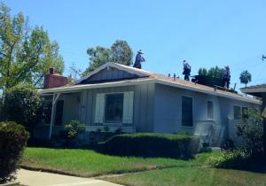 Bye-bye old roof!