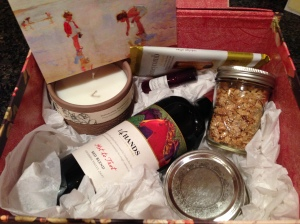 The care box that some of my dearest friends had put together for me.
