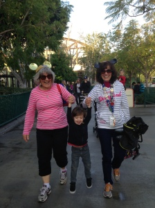Fun at Disneyland with Grammie & Auntie J.